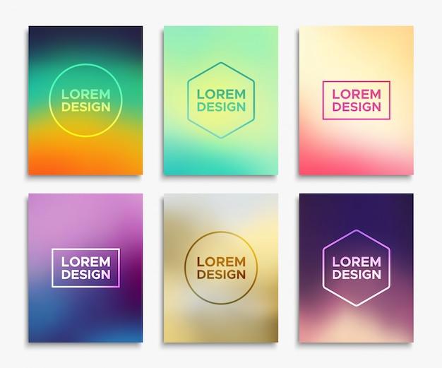 Broschüren-flyer-layouts im a4-format. vektor-banner