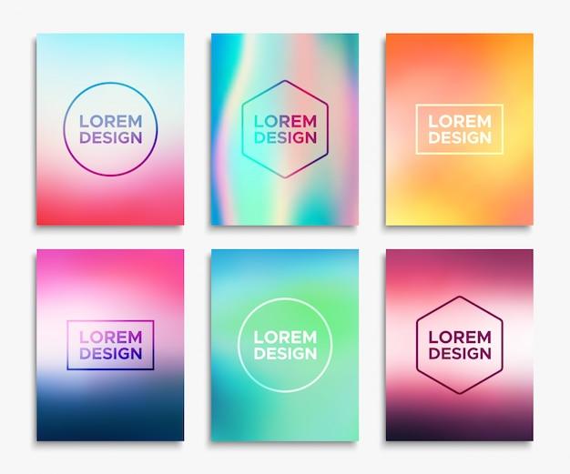 Broschüren-flyer-layouts im a4-format.