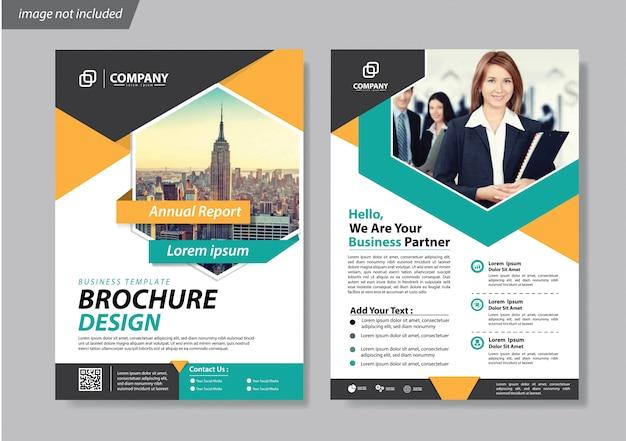 Broschüren-flyer oder broschürenhintergrundbericht abdecken