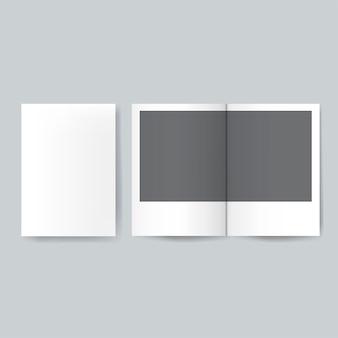 Broschürenentwurfsschablonen-modellvektor