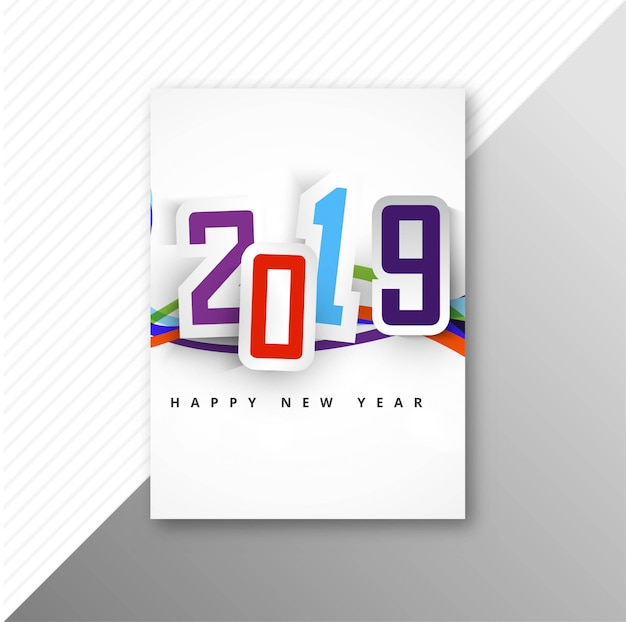Broschürenfeier-schablonenhintergrund mit 2019