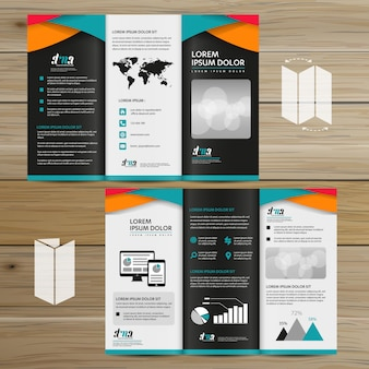 Broschürengeschäft tri falten broschüren-fliegervektordesign