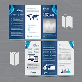 Broschürengeschäft tri fold leaflet flyer