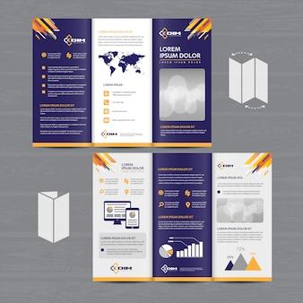 Broschürengeschäfts-dreifachgefaltetes broschüren-fliegervektordesign