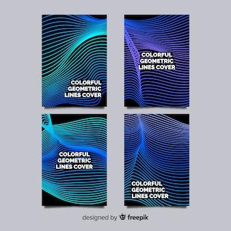 Broschürenpaket mit geometrischen linien