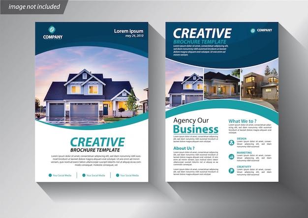 Broschürenplanjahresbericht-plakatflieger mit geometrischer form