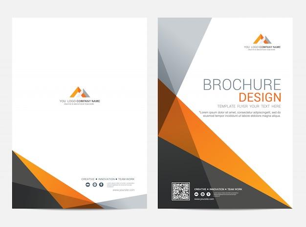 Broschürenschablonenfliegerdesign-vektorhintergrund