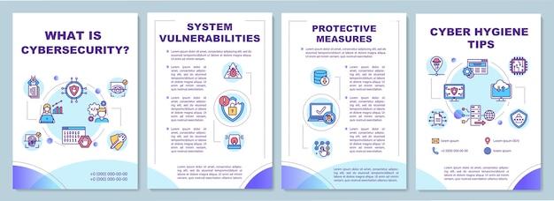 Broschürenvorlage für cybersicherheitstipps