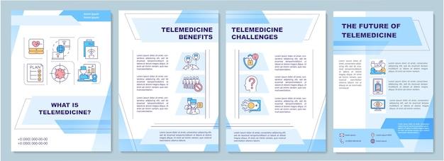 Broschürenvorlage für die definition der telemedizin