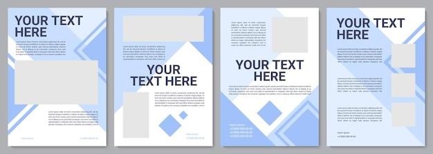 Broschürenvorlage für die industrielle produktion. flyer, broschüre, broschürendruck, cover-design mit kopierraum. dein text hier. vektorlayouts für zeitschriften, geschäftsberichte, werbeplakate