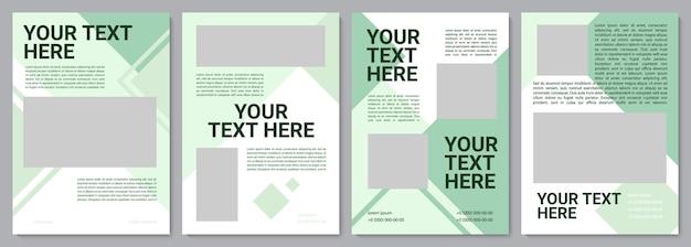 Broschürenvorlage für eine kampagne für das umweltbewusstsein. flyer, broschüre, broschürendruck, cover-design mit kopierraum. dein text hier. vektorlayouts für zeitschriften, geschäftsberichte, werbeplakate