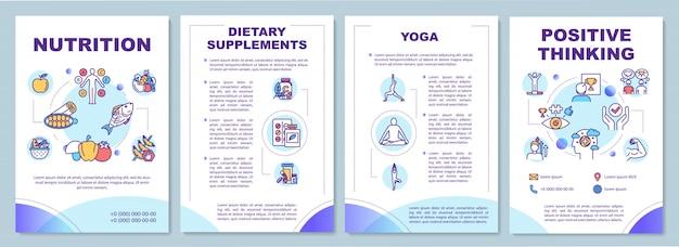Broschürenvorlage für einen gesunden lebensstil