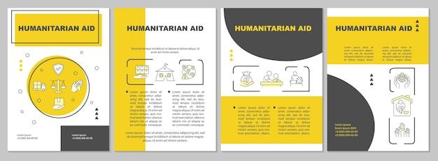 Broschürenvorlage für humanitäre hilfe und katastrophenhilfe