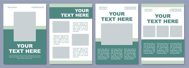 Broschürenvorlage für marketingkampagnen. produktinfos. flyer, broschüre, broschürendruck, cover-design mit kopierraum. dein text hier. vektorlayouts für zeitschriften, geschäftsberichte, werbeplakate