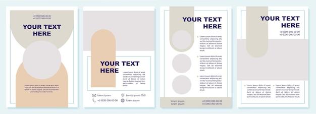 Broschürenvorlage für marketingstrategien. flyer, broschüre, broschürendruck, cover-design mit kopierraum. dein text hier. vektorlayouts für zeitschriften, geschäftsberichte, werbeplakate