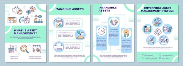 Broschürenvorlage für materielle und immaterielle vermögenswerte