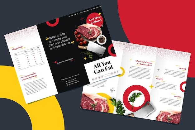 Broschürenvorlage für restaurant