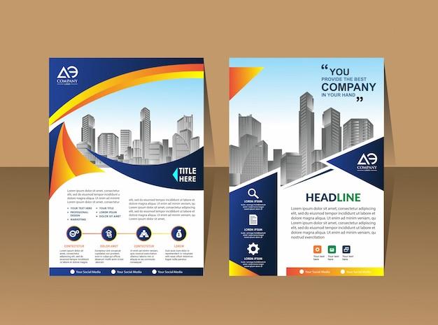 Broschürenvorlage layout cover-design