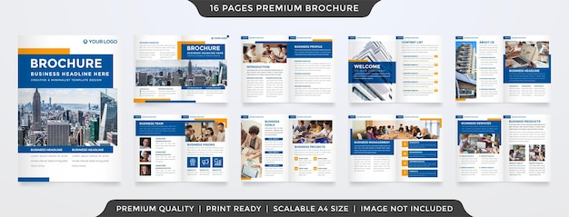 Broschürenvorlage sauberer stil und modernes layout