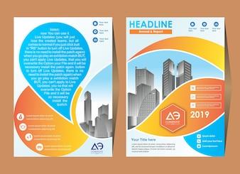 Broschüre Flyer Layout-Vorlage mit Elementen und Platzhalter
