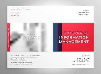 Broschüre Präsentation Design-Vorlage in roter Farbe