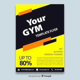Broschüre zum Fitnessstudio-Flyer
