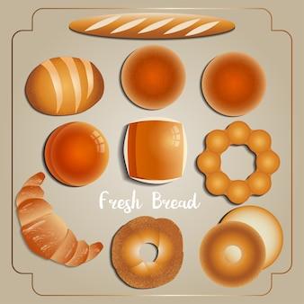 Brot, bäckereisammlung
