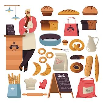Brot oder patry essen, bäckerei
