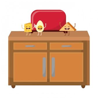 Brot toaster cartoon