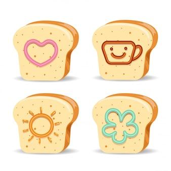 Brot und süße marmelade