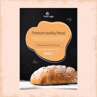 Brot vertikale plakatschablone
