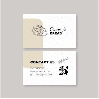Brot visitenkartenvorlage