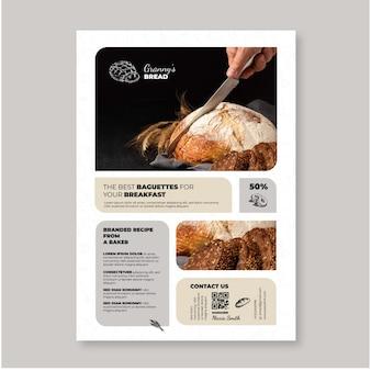 Brotplakatschablone mit foto