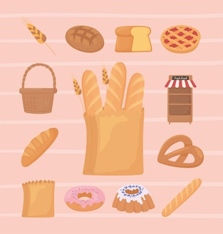 Brotsymbole setzen