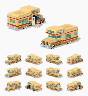 Brown 3d isometrische wohnmobil