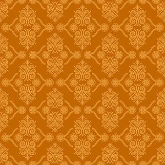 Brown-dekorativer strudel-hintergrund mit orange