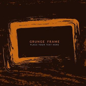 Brown farbe grunge-frame-hintergrund-design