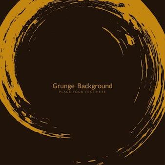 Brown farbe pinselstrich kreis grunge-hintergrund
