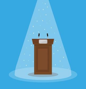 Brown holz podium tribüne podium