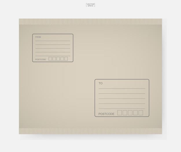 Brown papierumschlag illustration