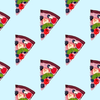 Brownie pizza mit sommerfrüchten