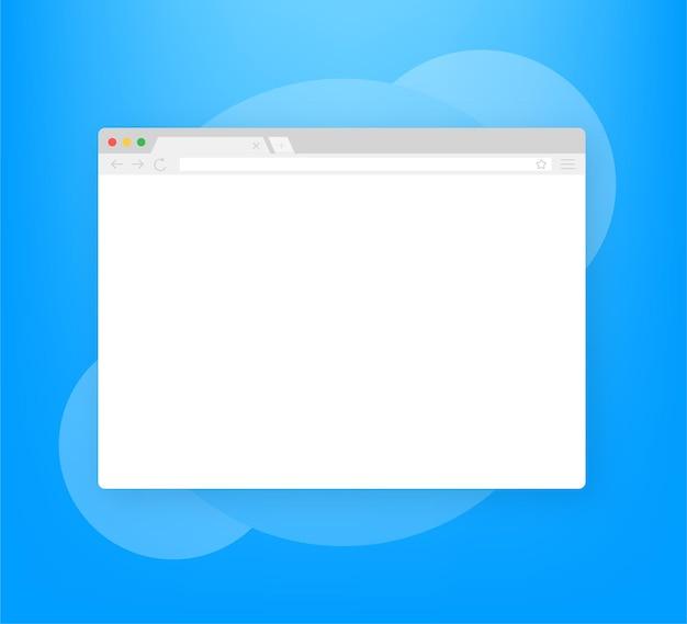 Browser fenster. browser oder webbrowser im flachen stil