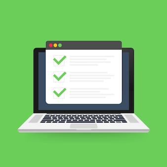 Browserfenster der checkliste.