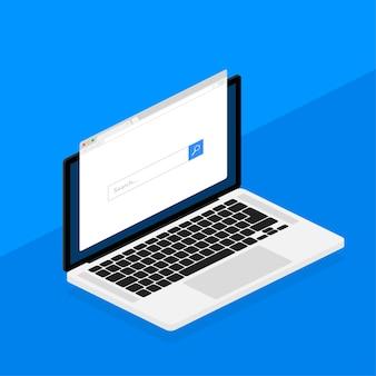 Browserfenster in der laptopillustration