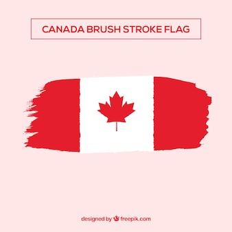 Brsuh-anschlag-kanadischer flaggenhintergrund