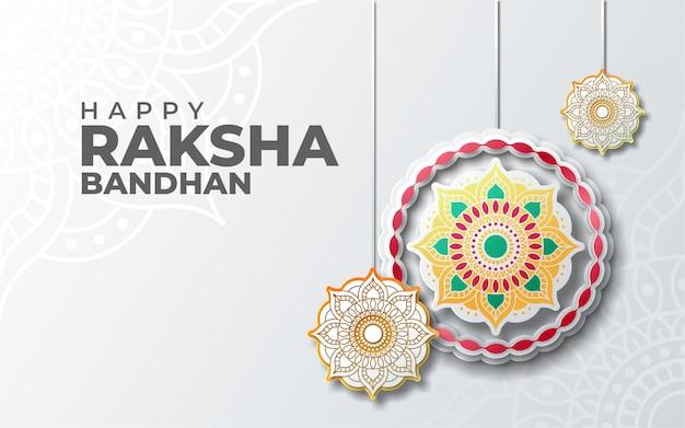 Bruder und schwester rakhi festival von raksha bandhan grußkarte