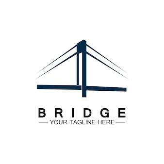 Brücke logo vektor icon illustration design-vorlage