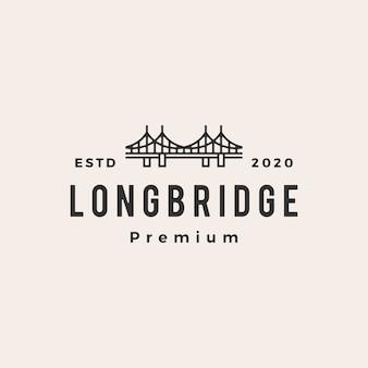 Brücke weinlese-logo-symbolillustration