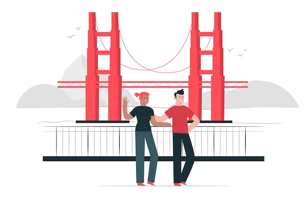 Brückenkonzept illustration