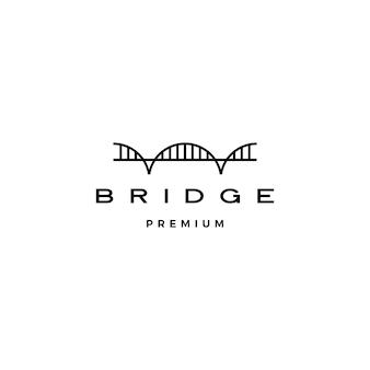 Brückenlogoikonenillustrationslinienumrissmonoline